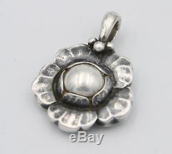 Georg Jensen Sterling Silver Pendant Heritage 2002 Denmark