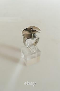 Georg Jensen Sterling Silver Ring #130 In Contemporary Design
