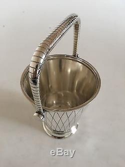 Georg Jensen Sterling Silver Sigvard Bernadotte Ice Bucket #819D