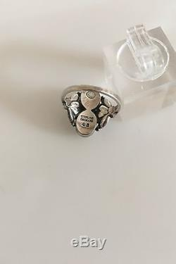 Georg Jensen Sterling Silver ring with Silver Stones #48