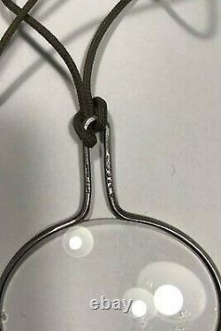 Georg Jensen String with Sterling Silver Pendant No 400 (Magnifying Glass) Torun