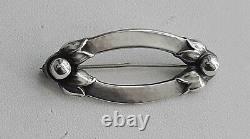 Georg Jensen Vintage Sterling Silver Denmark #141 Pin / Brooch