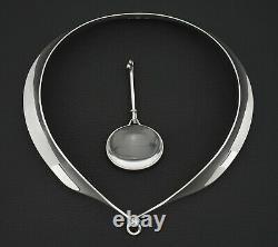 Georg Jensen Vivianna Torun Bülow-Hübe 160 / 311C Necklace Rock Crystal Pendant