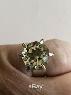 Gorgeous Vintage Sterling Silver Crystal Ring Sweden Norway