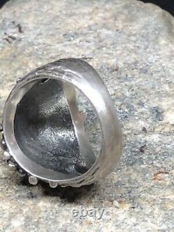 Gorgeous Vintage Sterling Silver designer cocktail Ring Sweden Norway