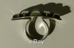 Great Vintage Sweden Signed Modernist Sterling Silver Ring Size 7