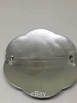 Gustav Gaudernack Capercaillie Sterling Silver Enamel Brooch Norway Norwegian