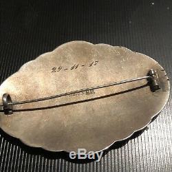 Gustav Gaudernack Sterling Silver Enamel Brooch Norway Norwegian