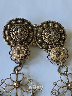HUGE Antique Scandinavian 830 Silver Solje Wedding Pin Brooch 6 Long