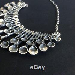 Hannu Ikonen For Valo Koru Rare Sterling Silver Reindeermoss Necklace Finland