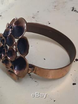 Hannu Ikonen Reindeer Moss Bronze Bracelet Vintage Finland Big