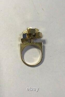 Hans Hansen 14 Ct Gold Ring Modern Ring Size 55(US 7 1/4)