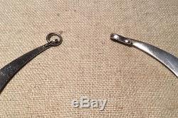 Hans Hansen Denmark Vintage Sterling Silver Mid Century Modern Necklace