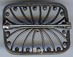 Hans Hansen Denmark Vintage Sterling Silver Modernist Pin