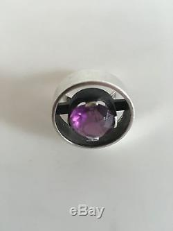 Hans Hansen Sterling Silver Ring with Armetyst