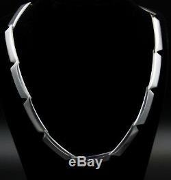 Hans Hansen for Georg Jensen Plateau Necklace Sterling Silver 925 Rare 16.53