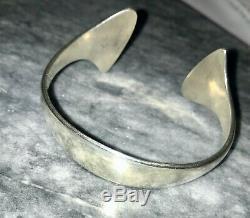 Hans Hansen of Denmark Sterling Silver Signed Cuff Bracelet