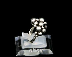 Harald Nielsen for Georg Jensen Sterling Ring #551A Moonlight Grapes Size 6.25