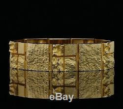 Heavy Lapponia Bracelet 14K Gold Björn Weckström 1202