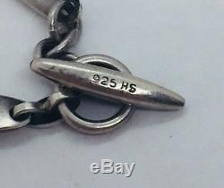Herman Siersbol Denmark Vintage Sterling Silver Boomerang Modernist Necklace