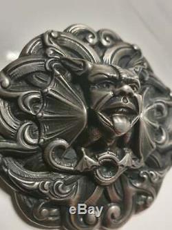 Huge Norwegian Henrik Møller / Moller Antique 830s Silver Brooch Norway