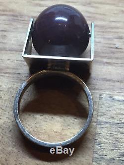 Huge Ring Willy Karlberg Sterling Silver Norway Norwegian