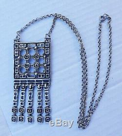 Huge Sterling Silver Uni David-andersen, Unn Tangerud, Necklace/pendant, Norway