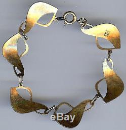 Ivar Holt Vintage Norway Sterling Silver Pearly White Enamel Bracelet