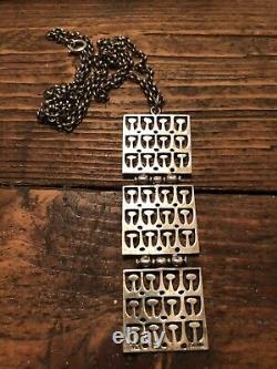 Ivar Holth Sterling Silver Pendant Necklace David Andersen Norway Finland