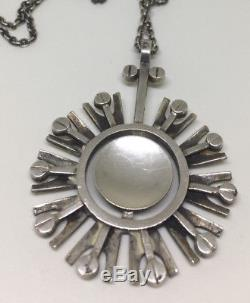 Ivar T. Holth 830s Vintage retro silver Necklace Norway Norwegian