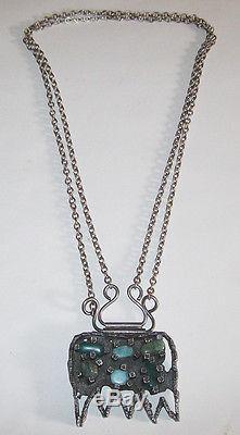 Jacob Hull Huge Necklace Pendant Modernist Mid Century Denmark Danish Viking