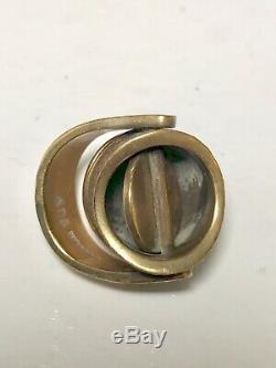 Jane And Finn Bronze Poison Ring 1970s Denmark