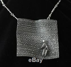 Jorma Laine Flying Carpet silver necklace, Kultateollisuus Ky, Finland