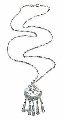 KALEVALA KORU KK Finland Beautiful Sterling Silver Necklace Moon Goddess