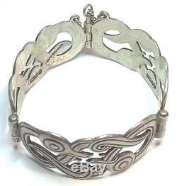 KALEVALA KORU KK Finland Beautiful Vtg Sterling Silver Bracelet Iku-Turso