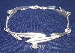 KALEVALA KORU KK Finland Sterling Silver Bracelet Kielo / Lily of the Valley