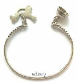 KALEVALA KORU KK Finland Sterling Silver Bracelet Lintunen / Little Bird 18 cm