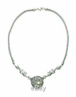 KALEVALA KORU KK Finland Sterling Silver Necklace Aurinkoleijona Sun Lion