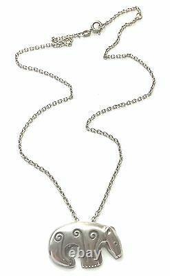 KALEVALA KORU KK Finland Sterling Silver Pendant with Chain / Brooch BEAR