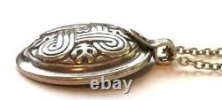 KALEVALA KORU KK Finland Sterling Silver Pendant with Chain St. John's Arms