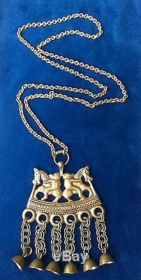 KALEVALA KORU KK Finland Vintage Bronze Horse Necklace Kokemaki BIG