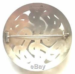 KALEVALA KORU KK Finland Vintage Sterling Silver Brooch from 1965 Viking Motif