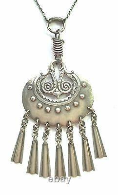 KALEVALA KORU KK Finland Vintage Sterling Silver Necklace Moon Goddess BIG