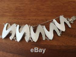 K. A Rasmussen Sterling Silver Enamel Bracelet Norway Norwegian