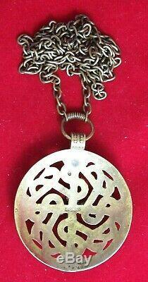 Kalevala Koru Kk Finland Bronze Necklace Vintage Pendant Cross Viking Motif Vtg
