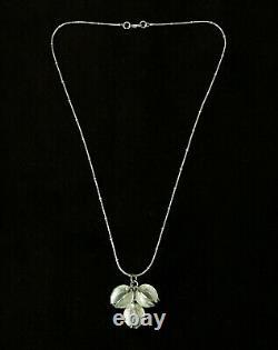 Kalevala Koru Nib190 Snowflower Pendant 17.75 Necklace Sterling Silver Finland
