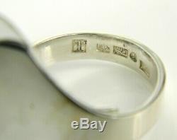Kaunis Koru Finland Modernist 925 Sterling Silver 26mm Wide Expandable Ring 7.5