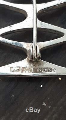 Kultaseppa Salovaara Sterling silver Finnish finland vintage modernist brooch