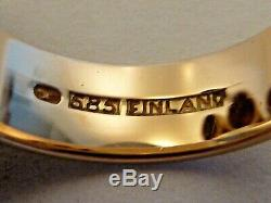 Kupittaan Kulta 14k Gold Minimalist Ring, 9 White Pearls In Threes, Finland 585