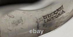 LAPPONIA FINLAND BJORN WECKSTROM STERLING SILVER MODERNIST RING SCANDINAVIAN 70s